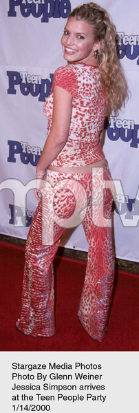 """Teen People Party,""Jessica Simpson.  1/14/00. © 2000 Glenn Weiner - Image 16688_0102"