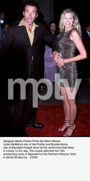 """Baywatch 10th Anniversary Party,""Julian McMahon and Brooke Burns.5/02/00. © 2000 Glenn Weiner - Image 16823_0105"