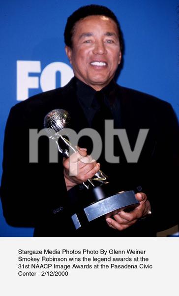 """NAACP Image Awards - 31st,""Smokey Robinson.  2/12/00. © 2000 Glenn Weiner - Image 16983_0109"