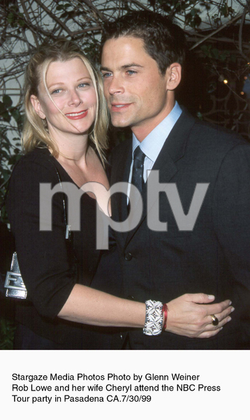 """NBC Press Tour Party,""Rob Lowe and wife Cheryl.7/30/99. © 1999 Glenn Weiner - Image 16984_0100"