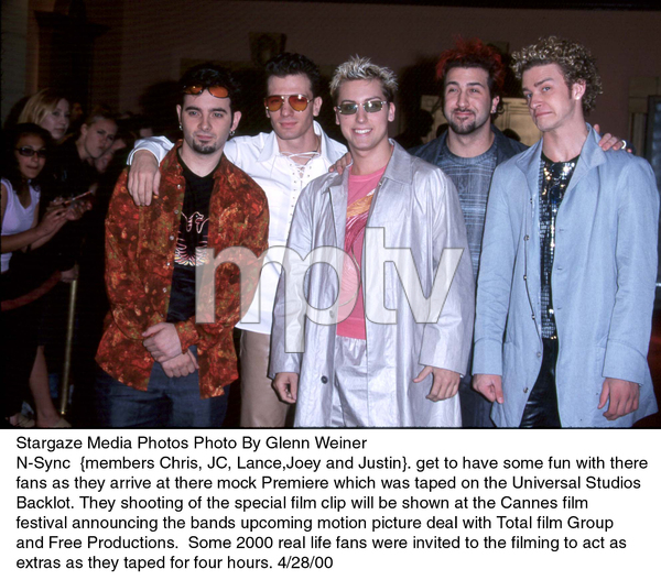 N-Sync : Chris, JC, Lance, Joey, and Justin.4/28/00. © 2000 Glenn Weiner - Image 16999_0100
