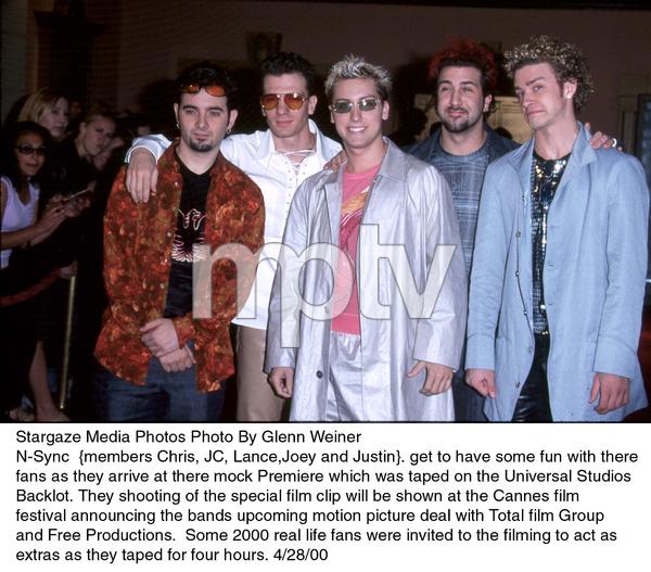 N-Sync : Chris, JC, Lance, Joey, and Justin.4/28/00. © 2000 Glenn Weiner - Image 16999_0100