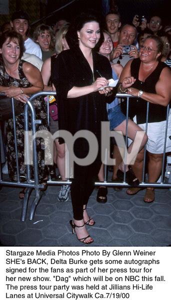"""""""NBC Press Tour Party - 2000,""""Delta Burke.  7/19/00. © 2000 Glenn Weiner - Image 17024_0101"""