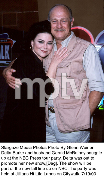 """NBC Press Tour Party - 2000,""Delta Burke and husband Gerald McRainey.7/19/00. © 2000 Glenn Weiner - Image 17024_0102"