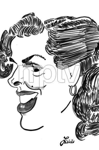 Jane RussellCelebrity Caricatures © 2000 Jack Lane - Image 17150_0043