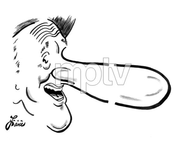 Jimmy DuranteCelebrity Caricatures © 2000 Jack Lane - Image 17150_0047
