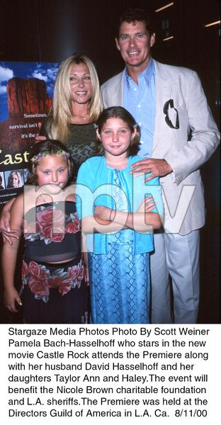 """Castle Rock"" Premiere, 8/11/00.Pamela BAch-Hasselhoff with husbandDavid Hasselhoff and children Taylor Annand Haley. © 2000 Scott Weiner - Image 17151_0101"