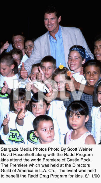 """Castle Rock"" Premiere, 8/11/00.David Hasselhoff along with Radd Programkids. © 2000 Scott Weiner - Image 17151_0103"