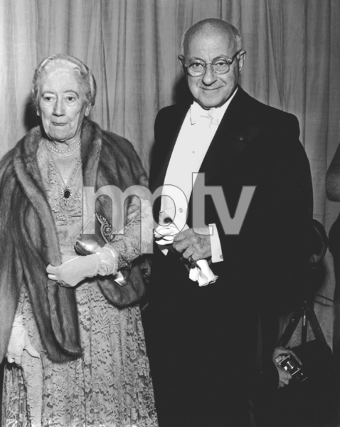 Cecil B. DeMille with wife Constance Adams.Academy Awards: 26th Annual, 1954.**I.V. - Image 17172_0025