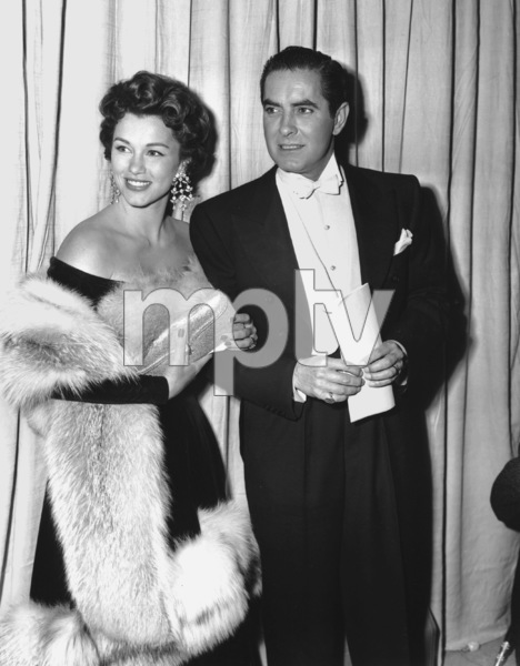 Tyrone Power and wife Linda Christian.Academy Awards: 26th Annual, 1954.**I.V. - Image 17172_0032