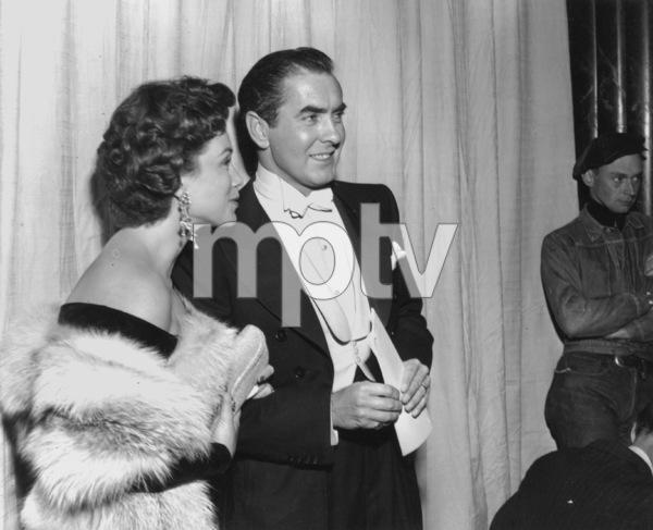 Tyrone Power and wife Linda Christian.Academy Awards: 26th Annual, 1954.**I.V. - Image 17172_0033