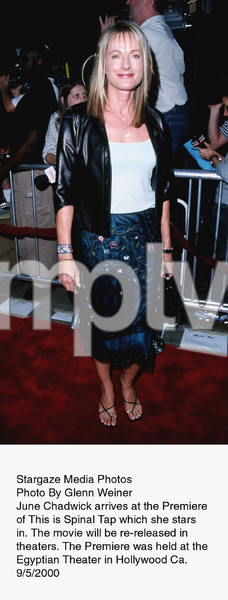 """""""This Is Spinal Tap"""" Premiere (Re-release).9/5/00.  June Chadwick. © 2000 Glenn Weiner - Image 17198_0101"""