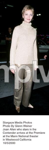 """""""Contender, The"""" Premiere.Joan Allen.  10/5/00. © 2000 Glenn Weiner - Image 17245_0103"""