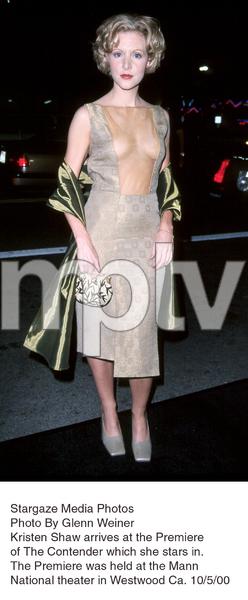 """""""Contender, The"""" Premiere.Kristen Shaw.  10/5/00. © 2000 Glenn Weiner - Image 17245_0105"""