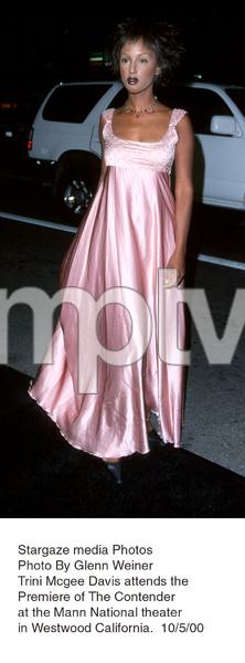 """""""Contender, The"""" Premiere.Trini Mcgee Davis.  10/5/00. © 2000 Glenn Weiner - Image 17245_0110"""