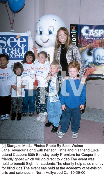 Jane Seymour, son Chris, friend Luke, and kids.Casper