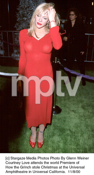 """Courtney Love""""How The Grinch Stole Christmas"""" Premiere, 11/8/00. © 2000 Glenn Weiner - Image 17300_0109"""