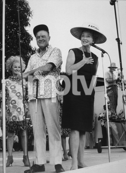 Bob Hope with wife Dolores and Phyllis Dillerduring a U.S.O. Christmas tour in Southeast Asia1966Photo By Gerald SmithMPTV - Image 173_475
