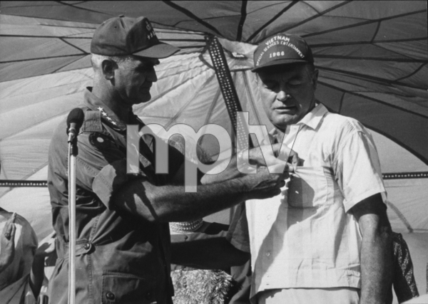 Bob Hope with General Westmorelandduring a U.S.O. Christmas tour in Southeast Asia1966Photo By Gerald SmithMPTV - Image 173_478