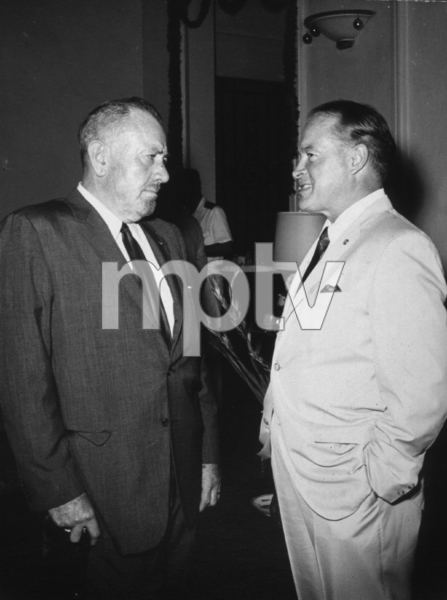 Bob Hope visiting with John Steinbeck duringhis U.S.O. Christmas tour in Southeast Asia1966Photo By Gerald SmithMPTV - Image 173_493
