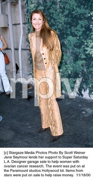 Jane SeymourDesigner Garage Sale, 11/18/00. © 2000 Scott Weiner - Image 17320_0106