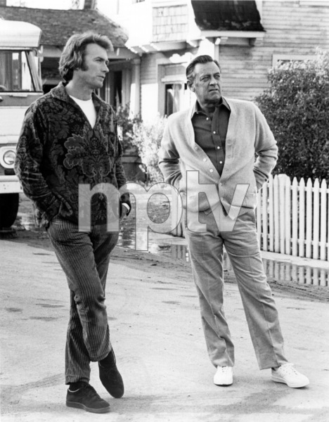 """""""Breezy""""Director Clint Eastwood on the set with William Holden.1973 Universal / **I.V. - Image 1754_0026"""