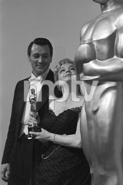 """""""The 32nd Annual Academy Awards""""Rock Hudson, Simone Signoret1960© 1978 David Sutton - Image 1757_0057"""