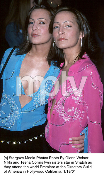 """Nikki and Teena Collins""""Snatch"""" Premiere, 1/18/01. © 2001 Glenn Weiner - Image 17573_0105"""