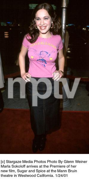 "Marla Sokoloffattends the ""Sugar and Spice"" Premiere, 1/24/01. © 2001 Glenn Weiner - Image 17630_0102"
