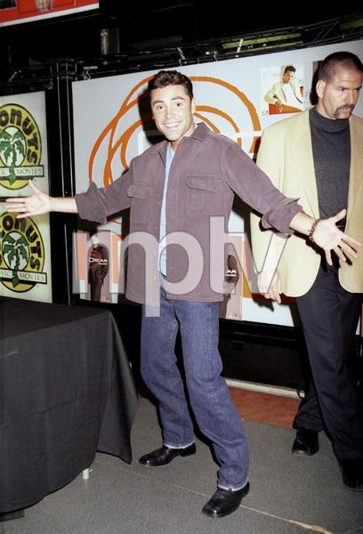 Oscar De La Hoya during a press conference launch for his CD, 2000. © 2000 Ariel Ramerez - Image 17705_0100