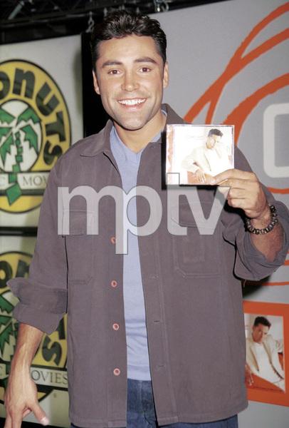 Oscar De La Hoya during a press conference launch for his CD, 2000. © 2000 Ariel Ramerez - Image 17705_0106