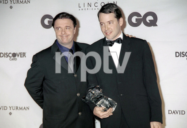 "Nathan Lane, Matthew Broderick""GQ"" Men Of The Year Awards: 2000. © 2000 Ariel Ramerez - Image 17871_0142"