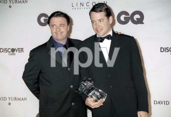"""Nathan Lane, Matthew Broderick""""GQ"""" Men Of The Year Awards: 2000. © 2000 Ariel Ramerez - Image 17871_0142"""