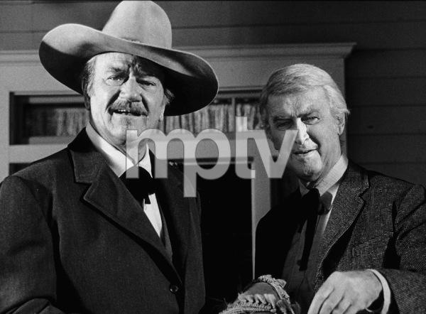 """""""The Shootist,"""" Paramount 1976.John Wayne and James Stewart. © 1978 David Sutton - Image 1797_0010"""