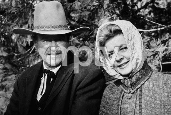 """The Shootist,"" Paramount 1976.John Wayne and Lauren Bacall. © 1978 David Sutton - Image 1797_0017"