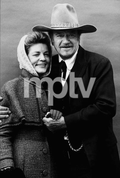 """The Shootist,"" Paramount 1976.Lauren Bacall and John Wayne. © 1978 David Sutton - Image 1797_0020"