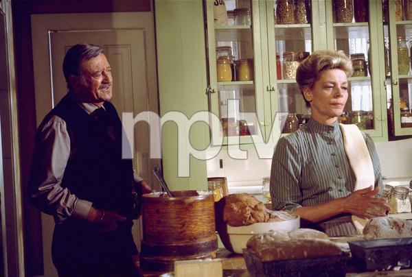 """The Shootist,"" Paramount 1976.John Wayne and Lauren Bacall. © 1978 David Sutton - Image 1797_0027"