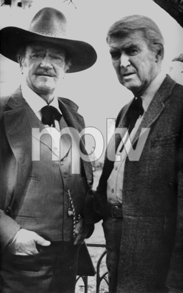 """The Shootist,"" Paramount 1976.John Wayne and James Stewart. © 1978 David SuttonMPTV - Image 1797_11"