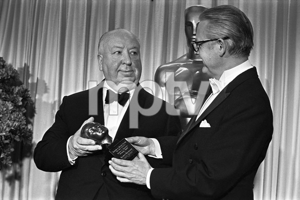 """""""The 40th Annual Academy Awards""""Alfred Hitchcock, Robert Wise1968 © 1978 Bud Gray - Image 1799_0041"""