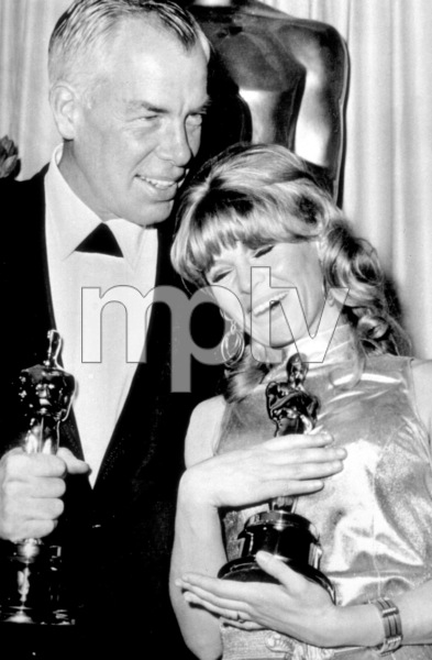 """""""The 38th Annual Academy AwardsLee Marvin, Julie Christie 1966 © 1978 Chester Maydole - Image 1800_0024"""