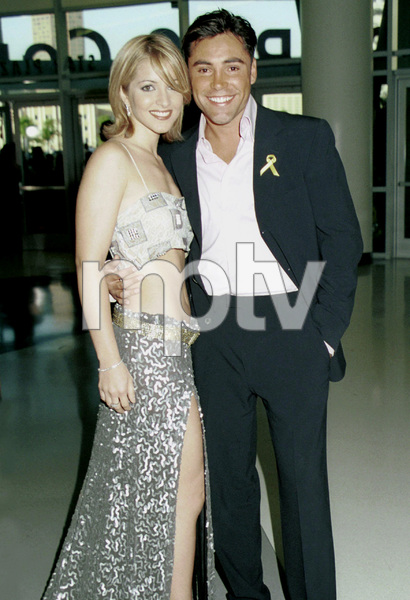 Oscar De La Hoya with date.Latin Grammy Awards: 2000, New York © 2000 Ariel Ramerez - Image 18003_0132