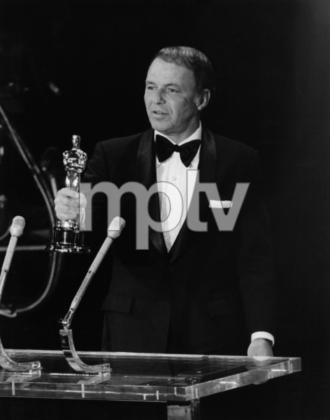 """""""The 43rd Annual Academy Awards""""Frank Sinatra receives the Jean Hersholt Humanitarian Award1971Photo by Sheedy / Long - Image 1802_0003"""