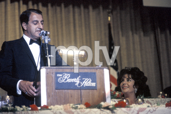 """Cedars-Sinai Benefit / Party""Danny Thomas, Elizabeth Taylorcirca 1961 / The Beverly Hilton © 1978 David Sutton - Image 1807_0006"