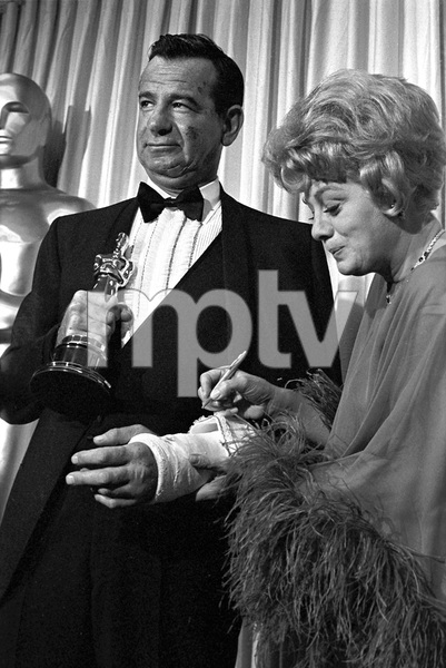 """The 39th Annual Academy Awards""Walter Matthau, Shelley Winters1967 © 1978 Bud Gray - Image 1808_0045"
