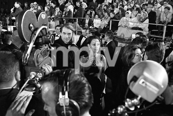 """""""The 39th Annual Academy Awards""""Gregory Peck with his wife Veronique Passani1967 © 1978 Bud Gray - Image 1808_0046"""