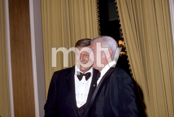 """Academy Awards: 42nd Annual""Buddy Ebsen and John Wayne1970Photo by Paul Slaughter - Image 1812_0043"