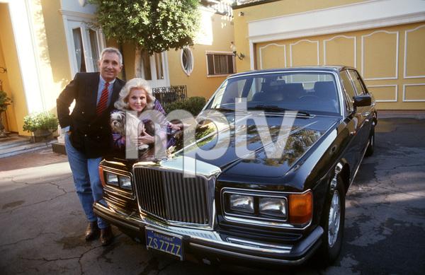Zsa Zsa Gabor& Prince Von Anhalt & their Bentley at Home in Beverly Hills © 1990 Gunther - Image 18_218