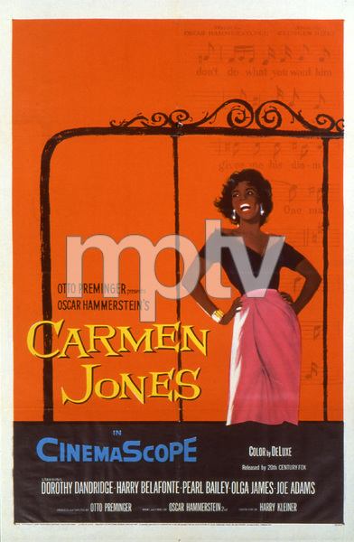 """Carmen Jones""Poster1954 20th Century Fox**I.V. - Image 18239_0014"