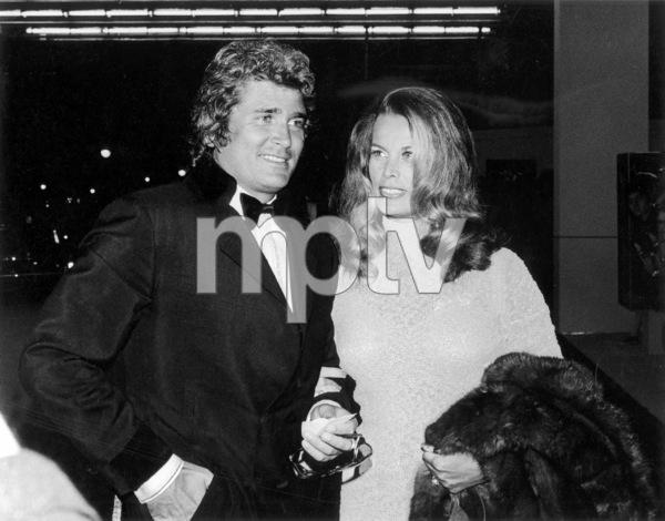 """""""Cabaret"""" Premiere, 1972Michael Landon with wife Lynn © 1978 Kim Maydole Lynch - Image 18374_0001"""