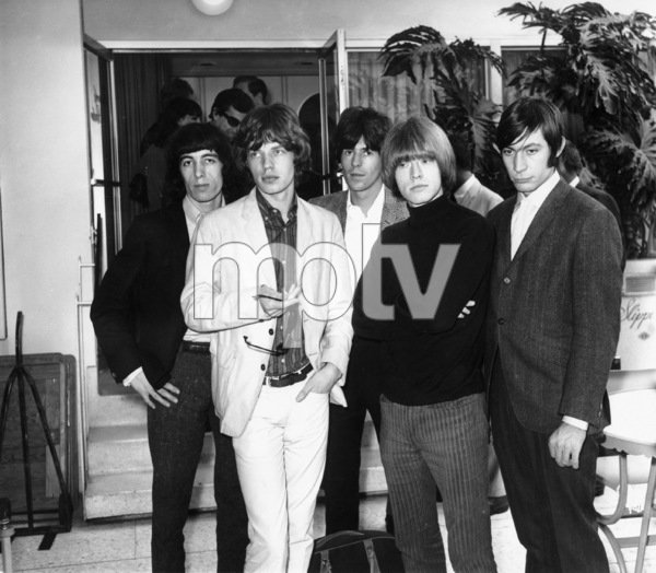 The Rolling Stones (Bill Wyman, Mick Jagger, Keith Richards, Brian Jones, Charlie Watts)1965Photo by Joe Shere - Image 1856_0132